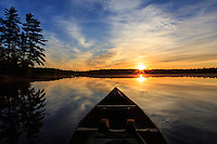 &quot;Sunrise Tranquility&quot;<br /> <br /> Lasting memories are created when immersed in the beauty and tranquility of an early morning wilderness paddle. ~ Day 99 of Inspired by Wilderness: A Four Season Solo Canoe Journey.