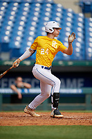 Izaac Pacheco (24) of Friendswood High School in Friendswood, TX during the Perfect Game National Showcase at Hoover Metropolitan Stadium on June 18, 2020 in Hoover, Alabama. (Mike Janes/Four Seam Images)