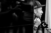a cheerful Mark Cavendish  (GBR/Dimension Data) at the teambus before the start<br /> <br /> 104th Tour de France 2017<br /> Stage 4 - Mondorf-les-Bains &rsaquo; Vittel (203km)