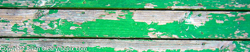 Old Paint Flakes off of boards on a dock in Holly Hill, FL.  (Photo by Brian Cleary/www.bcpix.com) 1200x250 pixels and 500x100 pixels available.