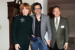 "LOS ANGELES - JAN 9: Stefanie Powers, Ben Mankiewicz, David Rambo at The Actors Fund's ""In The Spotlight"" Living Room Salon Series launch with special guest Sherry Lansing at a private estate on January 9, 2018 in Beverly Hills, CA"
