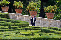 Rocco Casalino, Giuseppe Conte's spokesman in the gardens of the Casina del buon respiro, inside Villa Pamphilj, where the Italian Premier convened the States General of Economy. The summit was strictly behind closed doors and the press was kept outside. Rome (Italy), June 15th 2020<br /> <br /> <br /> <br /> Samantha Zucchi Insidefoto