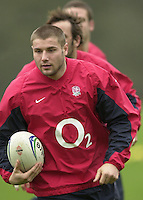 12/02/2004 Six Nations Rugby England Training- Pennyhill Park- Bagshot.Ben Cohen  morning training session.   [Mandatory Credit, Peter Spurier/ Intersport Images].