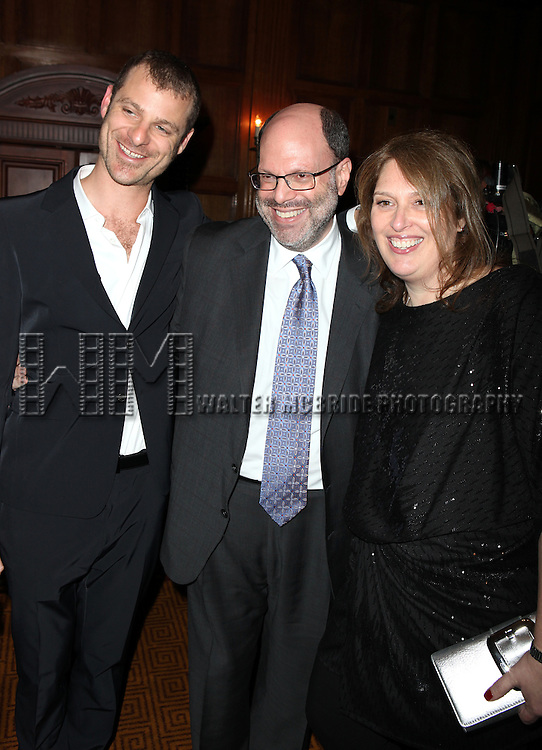 Matt Stone, Scott Rudin & Anne Garefino.attending the Broadway Opening Night After Party for 'The Book Of Morman' at Gotham Hall in New York City.