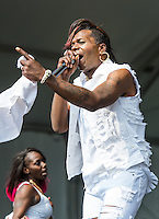 Big Freedia performs at the 2014 Jazz and Heritage Festival in New Orleans, LA.