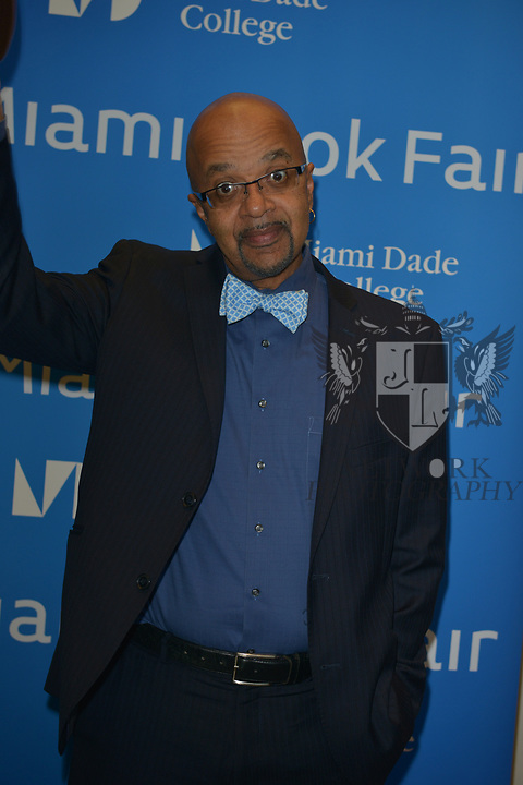 MIAMI, FL - NOVEMBER 16: Musician/author James McBride attends The Miami Book Fair at Miami Dade College Wolfson - Chapman Conference Center on November 16, 2017 in Miami, Florida. ( Photo by Johnny Louis / jlnphotography.com )