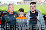 David Snr, David and Darren  Horan, Brosna Kerry supporters for the double header in Portlaoise on Saturday.