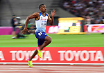 Chijindu Ujah (GBR) in the mens 100m heats. IAAF World athletics championships. London Olympic stadium. Queen Elizabeth Olympic park. Stratford. London. UK. 04/08/2017. ~ MANDATORY CREDIT Garry Bowden/SIPPA - NO UNAUTHORISED USE - +44 7837 394578