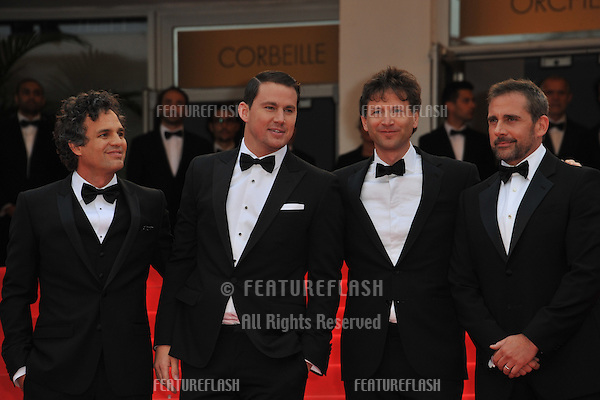 Mark Ruffalo, Channing Tatum, director Bennett Miller &amp; Steve Carell at the gala premiere of their movie Foxcatcher&quot; at the 67th Festival de Cannes.<br /> May 19, 2014  Cannes, France<br /> Picture: Paul Smith / Featureflash