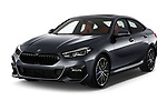 2020 BMW 2-Series-Gran-Coupe M-Sport 4 Door Sedan Angular Front automotive stock photos of front three quarter view