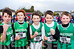 The students from Ballyduff NS ready for action at the first cross country competition held by Cumann na mBunscol Chairrai in the Caherslee GAA pitch in Tralee on Thursday afternoon last from Dingle, <br /> l-r, JJ O&rsquo;Rourke, Gavin Murphy, Jeromine Murphy, James Rockford and Jaden Condon.