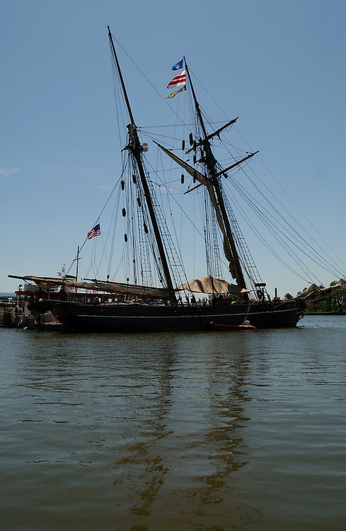 A recreation of the cargo schooner is on display at 600 Water Street in SW.  La Amistad was never a slave ship.  It was scene of an 1839 mutiny when kidnapped West Africans, misclassifed as slaves in Cuba, over throught the crew.