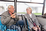 Tony Bowler and Anne Roche from Tralee who regularly travel on the Tralee Peoples' Bus Service which has been operating for twenty-six years.