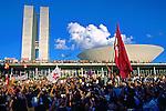 Manifestação de mulheres por Eleições Diretas, Congresso Nacional. Brasília. 1984. Foto de Cynthia Brito.