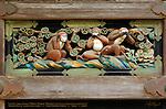 Sansaru Three Monkeys See no Evil Speak no Evil Hear no Evil Sculpture Panel Hidari Jingoro Tanyu School Mitsuda-e Nikko Toshogu Shrine Nikko Japan