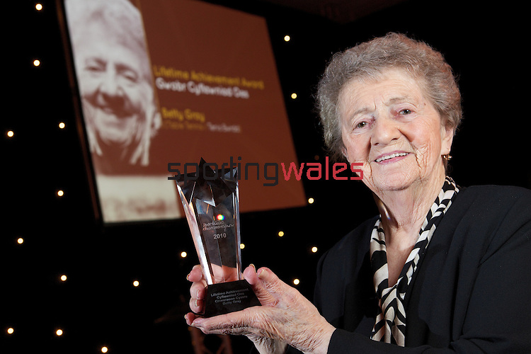 Sport Wales Coach of the Year 2010.Lifetime achievement award winner Betty Gray..24.11.10.©Steve Pope.