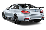 Car pictures of rear three quarter view of a 2018 BMW M4 Base 2 Door Coupe angular rear