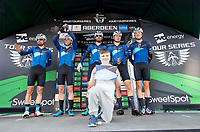 Picture by Allan McKenzie/SWpix.com - 17/05/2018 - Cycling - OVO Energy Tour Series Mens Race Round 3:Aberdeen - Canyon Eisberg sign on.