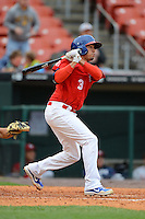 Buffalo Bisons shortstop Ryan Goins #3 during the first game of a double header against the Lehigh Valley IronPigs on June 7, 2013 at Coca-Cola Field in Buffalo, New York.  Buffalo defeated Lehigh Valley 4-3.  (Mike Janes/Four Seam Images)