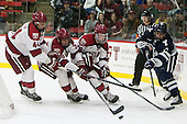 Max Everson (Harvard - 44), Brian Hart (Harvard - 39), Jimmy Vesey (Harvard - 19), Frankie DiChiara (Yale - 17) - The visiting Yale University Bulldogs defeated the Harvard University Crimson 2-1 (EN) on Saturday, November 15, 2014, at Bright-Landry Hockey Center in Cambridge, Massachusetts.