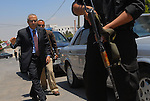 Palestinian Prime Minister Salam Fayyad arrives to a meeting with US Consul General in Jerusalem Jacob Walles, at the Council of Ministers building in the Ramallah, West Bank, Monday June 18th, 2007.<br /> (Photo by Ahikam Seri).