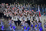 Japan Delegation (JPN), <br /> AUGUST 18, 2018 - Opening Ceremony : Opening Ceremony at Gelora Bung Karno Main Stadium during the 2018 Jakarta Palembang Asian Games in Jakarta, Indonesia. (Photo by MATSUO.K/AFLO SPORT)