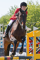 Canada's Melanie McCann competes during the Modern Pentathlon Women's World Cup held in Budapest, Hungary on May 07, 2011. ATTILA VOLGYI