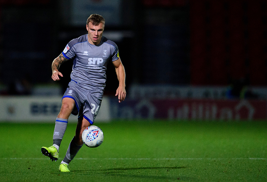 Lincoln City's Harry Anderson<br /> <br /> Photographer Andrew Vaughan/CameraSport<br /> <br /> EFL Leasing.com Trophy - Northern Section - Group H - Doncaster Rovers v Lincoln City - Tuesday 3rd September 2019 - Keepmoat Stadium - Doncaster<br />  <br /> World Copyright © 2018 CameraSport. All rights reserved. 43 Linden Ave. Countesthorpe. Leicester. England. LE8 5PG - Tel: +44 (0) 116 277 4147 - admin@camerasport.com - www.camerasport.com