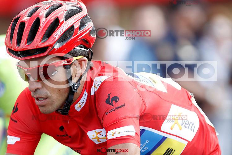 Alberto Contador during the stage of La Vuelta 2012 beetwen Cercedilla and Madrid.September 9,2012. (ALTERPHOTOS/Acero)