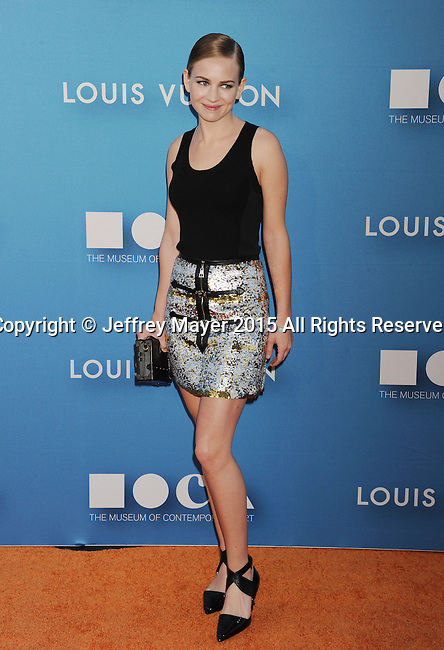 LOS ANGELES, CA - MAY 30:  Actress Britt Robertson arrives at the 2015 MOCA Gala presented by Louis Vuitton at The Geffen Contemporary at MOCA on May 30, 2015 in Los Angeles, California.