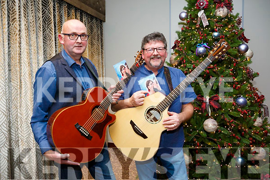Musicians  Pat Pierse and John Buggy  with their 'A Christmas Hug' CD in aid of Inspired at The Rose Hotel on Friday