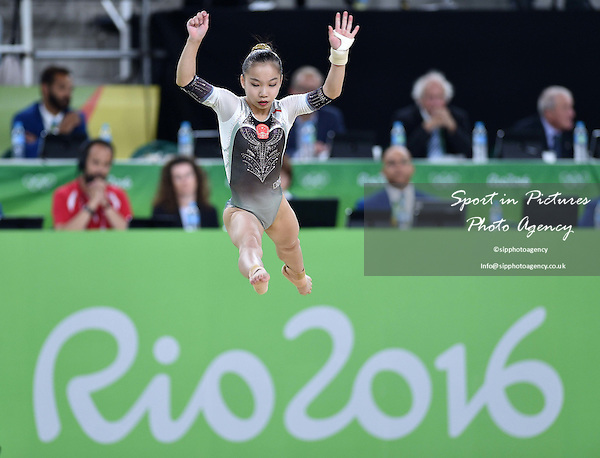 Yan Wang (CHN). Womens individual floor exercise. Artistic Gymnastics. Rio Olympic arena. Olympic Park. Rio de Janeiro. Brazil. 16/08/2016. ~ MANDATORY CREDIT Garry Bowden/SIPPA - NO UNAUTHORISED USE - +44 7837 394578