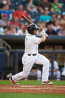 Akron RubberDucks second baseman Todd Hankins (8) at bat during a game against the Richmond Flying Squirrels on July 26, 2016 at Canal Park in Akron, Ohio .  Richmond defeated Akron 10-4.  (Mike Janes/Four Seam Images)