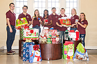 Mississippi State University's Biological Sciences Ambassadors embraced the holiday spirit with a book and gift card donation drive benefitting the children and families of Blair E. Batson Hospital for Children in Jackson. The gifts resulting from the drive were delivered recently to the hospital.<br />