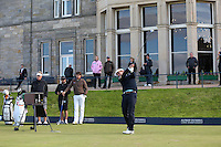 Joost Luiten (NED) tees off on the Old Course during the practice round before the 2014 Alfred Dunhill Links Championship, The Old Course, St Andrews, Fife, Scotland. Picture:  David Lloyd / www.golffile.ie