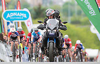 Picture by Allan McKenzie/SWpix.com - 15/05/2018 - Cycling - OVO Energy Tour Series Womens Race - Round 2:Motherwell - Media Motos, Adnams, branding.