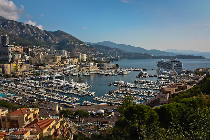 The Ruby Princess cruise ship in the Monaco harbour
