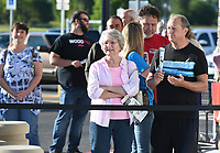 NWA Democrat-Gazette/J.T. WAMPLER Carol and Lonnie Shackelford wait in line to be the first customers in the door Thursday May 25, 2017 at the grand opening of  the Springdale Sam's Club. The club is located in west Springdale on 56th St. and is the first Sam's Club in the city for nearly a decade.