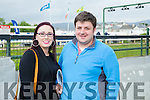 Deirdre McCarthy and Dave Colleen from Lisselton enjoying the Kerry GAA Night of Champions at the Kingdom Greyhound Stadium on Friday
