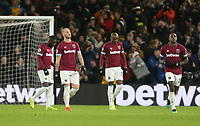 Dejection for West Ham<br /> <br /> Photographer Rob Newell/CameraSport<br /> <br /> The Premier League - Wolverhampton Wanderers v West Ham United - Tuesday 29th January 2019 - Molineux - Wolverhampton<br /> <br /> World Copyright © 2019 CameraSport. All rights reserved. 43 Linden Ave. Countesthorpe. Leicester. England. LE8 5PG - Tel: +44 (0) 116 277 4147 - admin@camerasport.com - www.camerasport.com