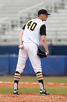 Iowa Hawkeyes pitcher Matt Dermody #40 during a game against the Illinois State Redbirds at Chain of Lakes Stadium on March 11, 2012 in Winter Haven, Florida.  Illinois State defeated Iowa 10-6.  (Mike Janes/Four Seam Images)