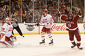 Luke Esposito (Harvard - 9) - The Harvard University Crimson defeated the Boston University Terriers 6-3 (EN) to win the 2017 Beanpot on Monday, February 13, 2017, at TD Garden in Boston, Massachusetts.