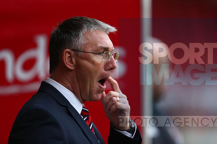Sheffield United's manager, Nigel Adkins - Sheffield United vs Bradford City - Skybet League One - Bramall Lane - Sheffield - 28/12/2015 Pic Philip Oldham/SportImage