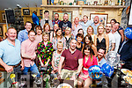 Michael Lyons from Ballyduff (seated) enjoying his 40th Birthday celebrations with his family and friends in the Brogue Inn on Sunday night. Seated L to r: Michael and Eilish Lyons.