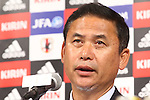Norio Sasaki (JPN), <br /> JULY 7, 2015 - Football / Soccer : <br /> Japanese women's national football team head coach Norio Sasaki<br />  attends a press conference after arriving in Chiba, Japan. <br /> Japan lost the FIFA Women's World Cup Canada 2015 Final match against United States on July 5.<br /> (Photo by Shingo Ito/AFLO SPORT)