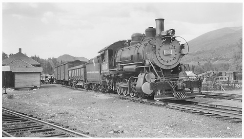 #1016 Std. Gauge 2-8-0 with freigth stopped at unknown station.<br /> D&amp;RGW