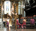 "English National Ballet. St. Paul's Cathedral. ""Silent Monologues"". World premiere. Choreography by Thomas Edur."