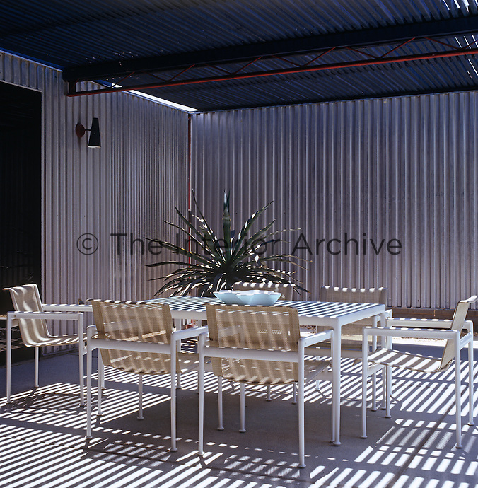 Corrugated Metal Walls mark luscombe-whyte | the interior archive