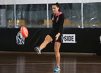 06.10.2013 Silver Fern Courtney Tairi in action during the Silver Ferns training in Melbourne Australia. Mandatory Photo Credit ©Michael Bradley.