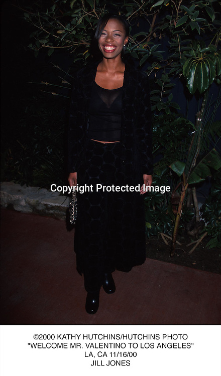 "©2000 KATHY HUTCHINS/HUTCHINS PHOTO.""WELCOME MR. VALENTINO TO LOS ANGELES"".LA, CA 11/16/00.JILL JONES"